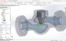 CFD Simulations of a flow through a Valve from within SolidWorks